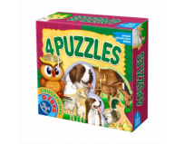 Puzzle 4 animale domestice, D-Toys.
