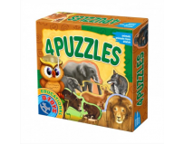 Puzzle 4 animale salbatice, D-Toys.