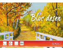 Bloc desen A4, 15 file, 230 g/mp, Herlitz