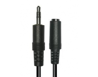 Cablu  audio  connectech prel. st. (3.5 mm jack t/m),  5.0m, black (cta6055)