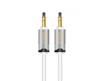 Cablu  audio  hdpremium st. (3.5 mm jack t/t),  0.75m, white (shd3301)