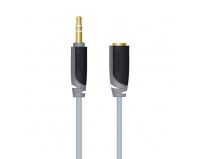 Cablu  audio  plus prel. st. (3.5 mm jack t/m),  3.0m, slim, black (sxa3603)