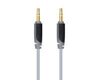 Cablu  audio  plus st. (3.5 mm jack t/t),  2.0m, slim, black (sxa3302)