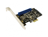 Card pci-express 1x, 2x s-ata 6gbps, 1x ide, chipset marvell 88se9128, raid 0/1, ncq, ahci, logilink (pc0064)