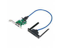 "Card pci-express 1x adaptor la 4x usb 3.0, chipset via vl800, include front panel bay 3.5"", logilink (pc0058)"