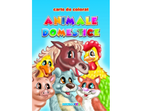 Carte de colorat Animale domestice