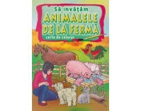 Carte educativa si colorat, Sa invatam animalele de la ferma, Omnibooks Unlimited