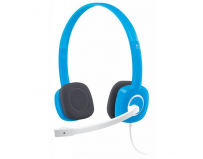 Casca logitech  h150 stereo headset with microphone, sky blue (981-000368)