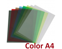 Coperti PVC transparent color - A4