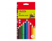Set 10 creioane color Jumbo, Herlitz