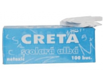 Creta scolara alba School Office, 100/set.