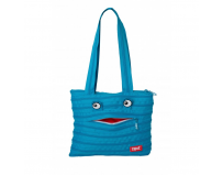 Geanta de umar ZIP-IT Monsters Mini, turcuaz bleu