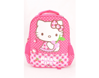 Ghiozdan Gradinita Hello Kitty Roz Buline Hello Kitty