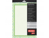 "Carton diplomă verde ""Spiral"",  A4, 115 g/mp, 25 coli/set, DECAdry"
