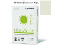 Hartie copiator A4 Classic White, 80 g/mp, 500 coli/top.- reciclata