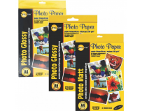Hartie foto lucioasa, A6, 230 g/mp, 5760 dpi,  20 coli/top, Yellow One