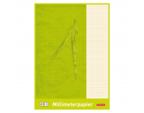 Hartie milimetrica, A3, 80 g/mp, 20 file/set, Herlitz