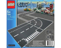 Lego city curba si intersectie 7281
