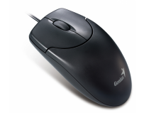 Mouse optic ps2 genius netscroll 120 (31011461100), wired cu 3 butoane si 2 rotita scroll, rezolutie de 800dpi, negru