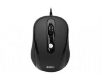 Mouse optic usb a4tech v-track (n-250x-1), black, wired cu 3 butoane si 1 rotita scroll, rezolutie 1000-2000dpi si cablu 60cm
