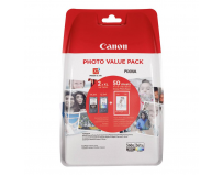 Cartuse cerneala Canon PG560XLPVP value pack, 4x6 Photo Paper (GP-501 50 sheets) + XL Black & XL Colour