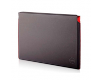 Dell Premier Sleeve, 15.6'', Magnetic closure, soft inner lining, Blackwith red accents, Compatibility: