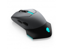 Dell Alienware Wired/Wireless Gaming Mouse AW610M, Wireless, wired - USB - 4 pin USB Type A, Optical,