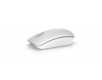 Dell Mouse MS116 3 buttons, wired, 1000 dpi, USB conectivity, Color: White