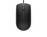 Dell Mouse MS116 3 buttons, wired, 1000 dpi, USB conectivity, Color:Black