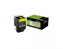 Cartus toner Lexmark 80C2HY0, yellow, 3 k, CX410de , CX410de with 3 year Onsite Service , CX410dte ,