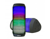 Boxa activa portabila AKAI cu Bluetooth si LED-uri, Output:2x3W, compatibilitate: MP3, MP4, PC, MID,