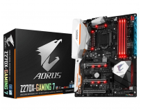 Placa de baza Gigabyte Socket LGA1151, Z270X-Gaming 7, Z270, Integrated in CPU + PCI-E 3.0 x16, DX12,