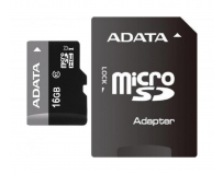 Micro Secure Digital Card ADATA 16Gb, AUSDH16GUICL10-RA1, Clasa 10, cu adaptor SD