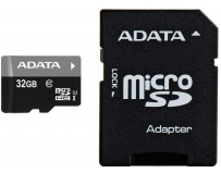 Micro Secure Digital Card ADATA 32Gb, AUSDH32GUICL10-RA1, Clasa 10, cu adaptor SD