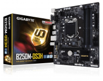 Placa de baza Gigabyte Socket LGA1151, B250M-DS3H, B250, Integrated in CPU + PCI-E 3.0 x16, DX12, HDMI/DVI-D/D-SUB,