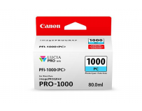 Cartus cerneala Canon PFI-1000PC , photo cyan, capacitate 80ml, pentru Canon imagePROGRAF PRO-1000.