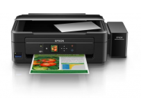 Multifunctional inkjet color CISS Epson L386, dimensiune A4 (Printare, Copiere, Scanare), printare borderless,