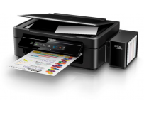 Multifunctional inkjet color CISS Epson L486, dimensiune A4 (Printare, Copiere, Scanare), printare borderless,