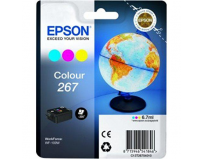 Cartus cerneala Epson 267 color, singlepack,pentru WorkForce WF-100W.