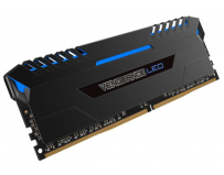 Memorie RAM DIMM Corsair Vengeance LED 64GB (4x16GB), DDR4 3000MHz, CL15, 1.35V, blue LED, XMP 2.0,
