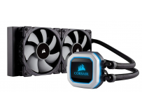 Cooler CPU Corsair H100i PRO RGB, racire cu lichid, ventilator 2x120mm, baza cupru, Socket Support: