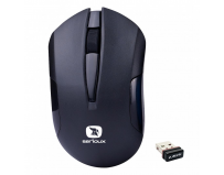 Mouse Serioux wireless, Drago 300, 1000dpi, negru, baterie AA inclusa, receptor nano, blister, USB
