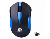Mouse Serioux wireless, Drago 300, 1000dpi, albastru, baterie AA inclusa, receptor nano, blister, USB