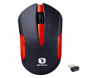 Mouse Serioux wireless, Drago 300, 1000dpi, rosu, baterie AA inclusa, receptor nano, blister, USB