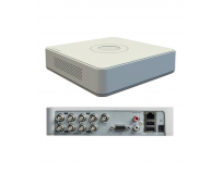 DVR Hikvision DS-7108HGHI-F1, 8-ch BNC interface (1.0Vp-p, 75 Ω),G.711u, RCA (2.0 Vp-p, 1 kΩ), 1-ch,