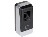 Cititor biometric si card MIFARE, Hikvision DS-K1201MF; Reads Mifare 1 card, Fingerpint (capacity: 5000);