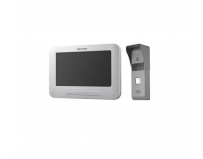 Hikvision set videinterfon, DS-KIS203; Kit-ul cuprinde: statie video deusa DS-KB2421-IM si statie video