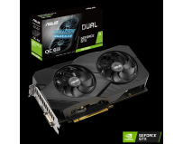 Placa video Asus DUAL-GTX1660S-O6G-EVO, PCI-E 3.0, Memory 6GB GDDR6,Engine clock:OC Mode - GPU Boost