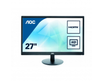 "Monitor 27"" AOC E2775SJ, FHD 1920*1080, TN, 16:9, 60hz, WLED, 1 ms, 300 cd/m2, 170/160, 100M:1, HDMI,"