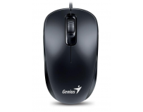 Mouse Genius cu fir, optic, DX110, 1200dpi, negru, plug and play, USB